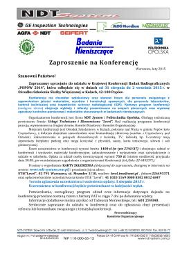 Zaproszenie i Ramowy program - PDF