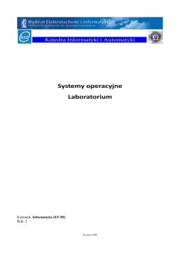 Systemy operacyjne Laboratorium