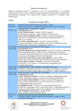 Program konferencji zawiera 47 wystąpień, w tym 10 w