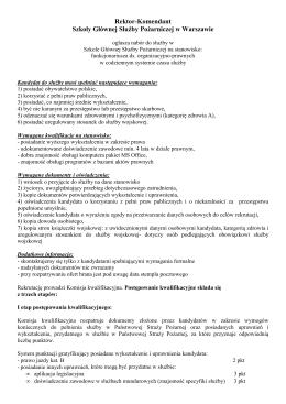 Rektor-Komendant Szkoły Głównej Służby Pożarniczej w Warszawie