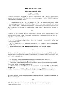 UCHWAŁA NR XXXI/177/2013 Rady Gminy Wadowice Górne z dnia