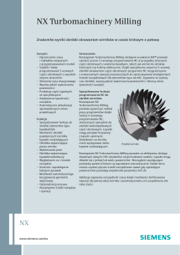 NX Turbomachinery Milling (Polish)