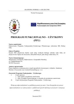 Program Funkcjonalno-Użytkowy - Urząd Żeglugi Śródlądowej w