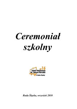 Ceremoniał Szkolny
