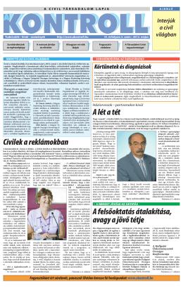 2012. májusi szám