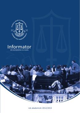 Informator - Wydział Prawa i Administracji UW
