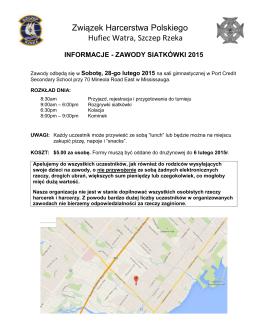 Turniej siatkówki - 28 luty 2015