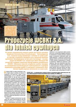 Propozycje WCBKT S.A. dla lotnisk cywilnych