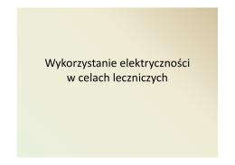 Elektryczność w lecznictwie