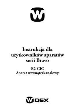 Instrukcja dla użytkowników aparatów serii Bravo