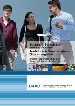 PDF  - DAAD-Informationszentrum Budapest