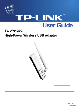 TL-WN422G High-Power Wireless USB Adapter