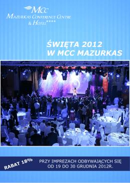 ŚWIĘTA 2012 W MCC MAZURKAS