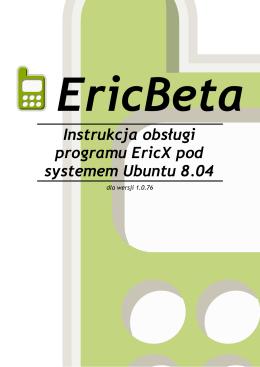 Instrukcja obsługi programu EricX pod systemem Ubuntu 8.04