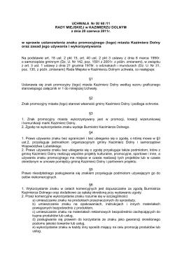 UCHWAŁA logo.pdf - Kazimierz Dolny