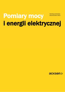 Pomiary mocy i energii elektrycznej
