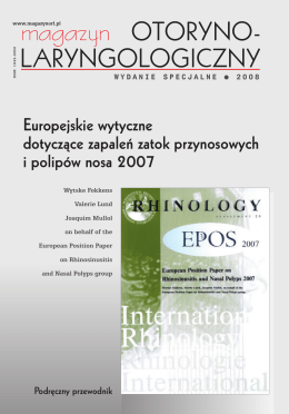 laryngologiczny - European Position Paper on Rhinosinusitis and