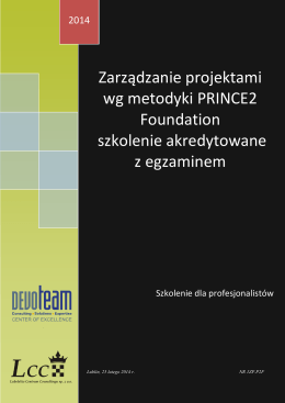Prince2 Foundation - LCC