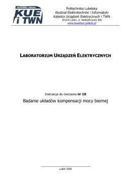 Badanie układów kompensacji mocy biernej