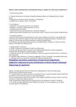 Regulamin konkursu - LGR Świętokrzyski Karp