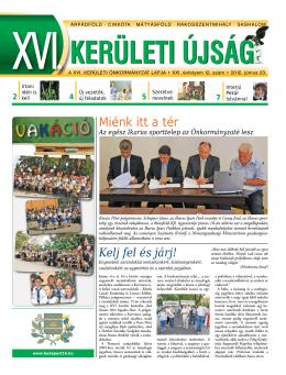 XVI. kerületi újság