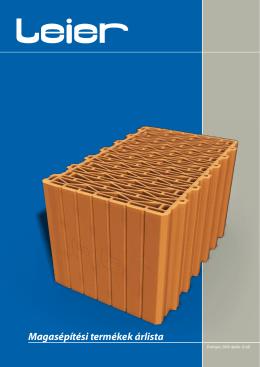 Magasépítési termékek árlista - Mester