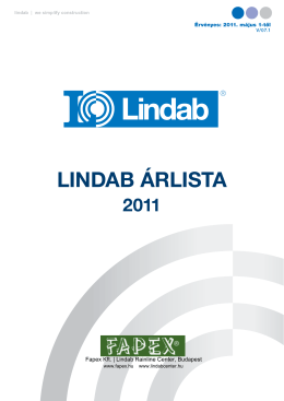 Lindab árLista