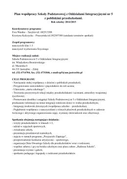 ramowy program studiów 2014/2015