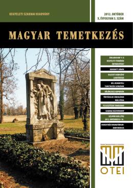 Magyar Temetkezés 2012. október