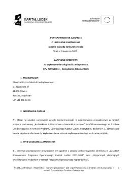 """Regulamin Konkursu """"Twórcy Innowacji 2014"""""""