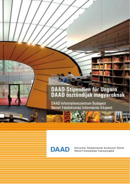 DAAD-Stipendien für Ungarn DAAD ösztöndíjak magyaroknak