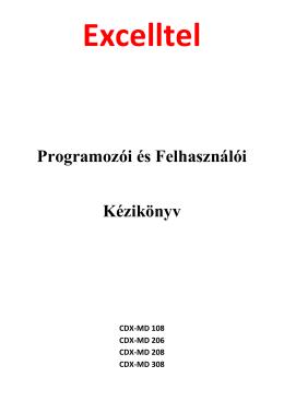 Programozói és Felhasználói Kézikönyv