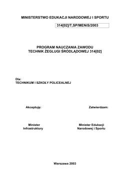 Rozporządzenie Ministra Transportu, Budownictwa i Gospodarki