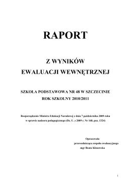raport z ewaluacji problemowej