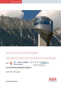 Kiadvány - ABA - Invest in Austria
