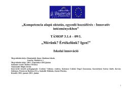 Mérés-értékelés - Damjanich János Általános Iskola Isaszeg