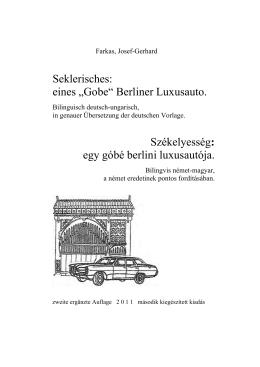 egy góbé berlini luxusautója. - beim Dokumentenserver der Freien