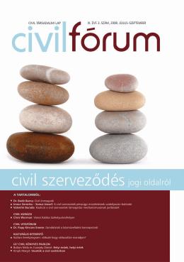 Civil szerveződés jogi oldalról