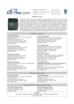 APB mini PLC árlista - Dial-Comp