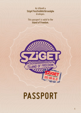 the Sziget Passport here!