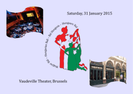 Saturday, 31 January 2015 Vaudeville Theater