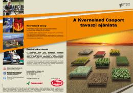 A Kverneland Csoport tavaszi ajánlata