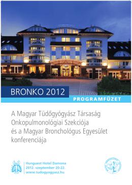 BRONKO 2012 - Magyar Tüdőgyógyász Társaság