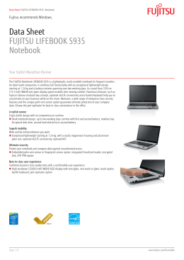 Data Sheet FUJITSU LIFEBOOK E752 Notebook