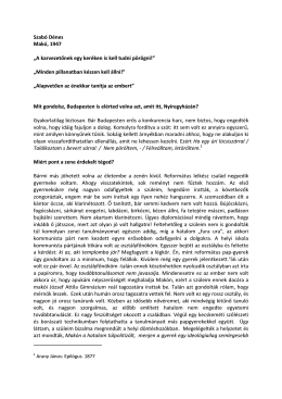 Fehér Anikó beszélgetése Szabó Dénessel