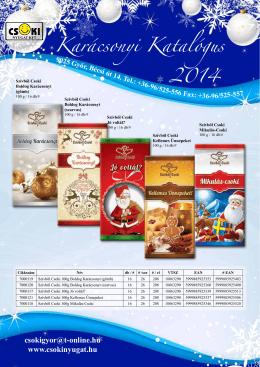 Karácsonyi Katalógus 2014