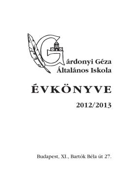 Évkönyv - Gárdonyi Géza Általános Iskola