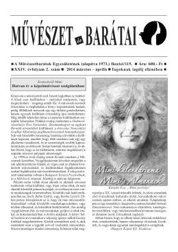 2014 / 2. szám - Művészetbarátok Egyesülete
