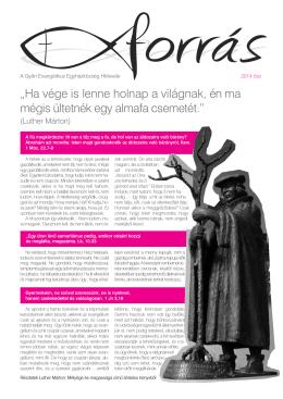 Letöltés / Nyomtatás - Győri Evangélikus Egyházközség