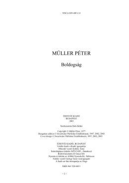 Müller Péter - Boldogság - orommel